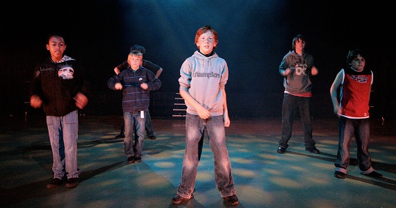 Boys in Histon Youth Theatre Class