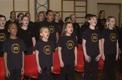 Kids singing at Stagecoach Leatherhead