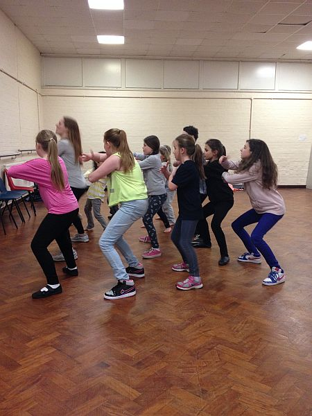 Dance rehearsal at Theatretrain Welwyn