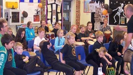 Penzance Stagecoach Theatre School Drumming Workshop