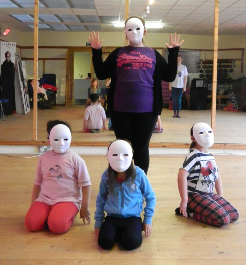 Acting with masks in daventry